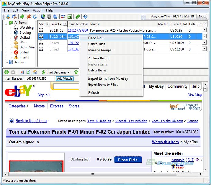 BayGenie eBay Auction Sniper Pro 4.0.1.0 free download! http://www.pluscrack.com/internet-software/baygenie-ebay-auction-sniper.html