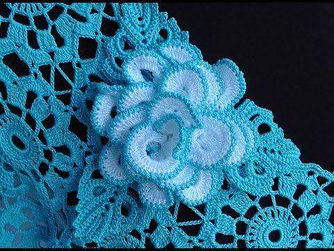 Как связать РОЗОЧКУ брошку. Вяжем розу крючком. How to crochet a rose motif. Crochet Rose Brooch - YouTube