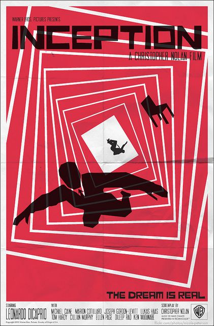 Inception Meets Saul Bass #1 by nicoleleepeterson ( http://www.flickr.com/photos/nicole-peterson/5152314014/ ) More info and works by the artist here: http://www.flickr.com/photos/nicole-peterson/