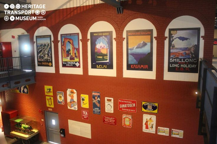 The charm of vintage railways is perfectly preserved at HTM! smile emoticon  This wall of the recreated railway station of the museum beautifully highlights the Indian tourism posters and ads of vintage products as used in the olden days!