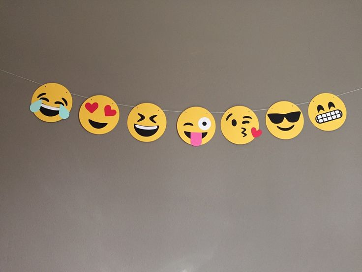 Emoji banner by modestedge on etsy emoji event for Decoration emoji