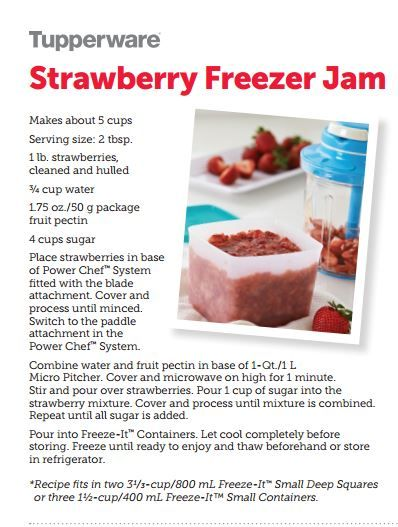 Strawberry Freezer Jam! Made and stored in Tupperware... Tupperware Freeze It containers available only for a limited time!  Contact me today! datupperlady@gmail.com Nisiemae.My.Tupperware.com