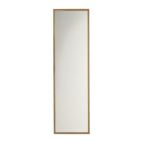 IKEA STAVE Mirror Oak effect 40x160 cm The mirror can be made turnable, if you choose to mount it with the included hinges.