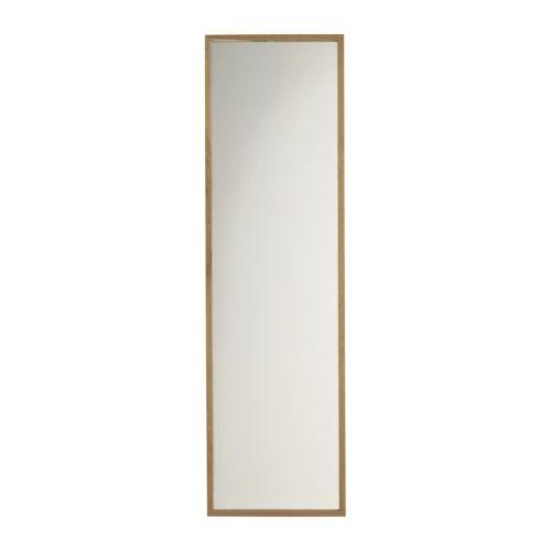 IKEA - STAVE, Mirror, oak, 40x160 cm,