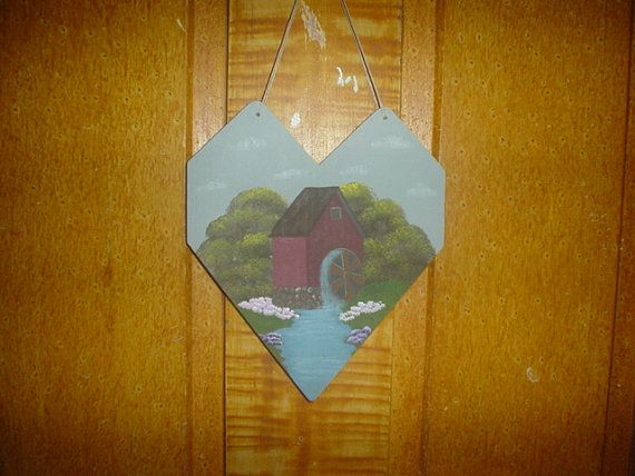 Hey, I found this really awesome Etsy listing at https://www.etsy.com/listing/94766999/hand-painted-wooden-heart-old-water