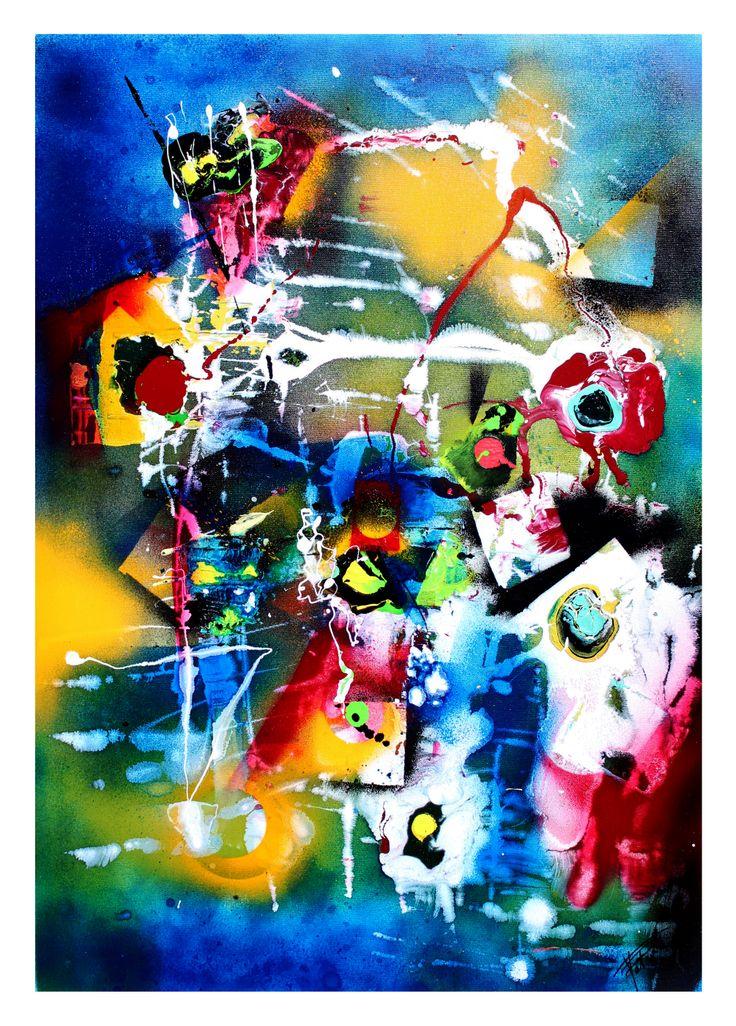 peinture art abstrait technique bombe acrylique glycero - Peinture Acrylique Ou Glycero Difference