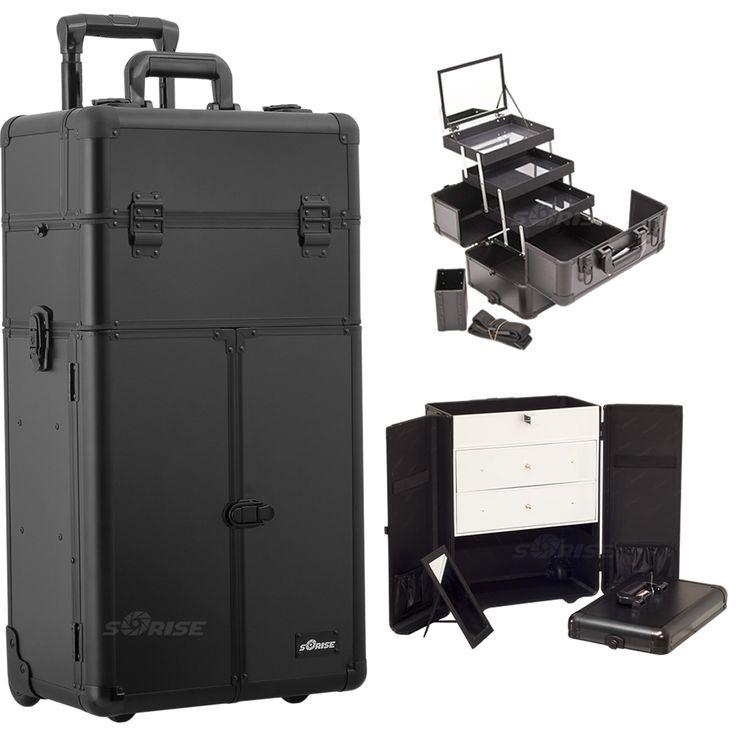 Black Smooth Trolley Makeup Case - I3566 - salonhive.com