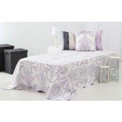 Bouti Colcha #Paris 260 x 180 cm #violeta. #Colchas para vestir tu #cama y #dormitorio en nuryba.com tu #tienda #online de #decoracion de #interiores en #Madrid y #España para #decorar tu #casa