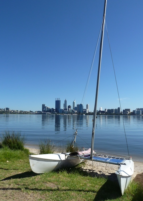 View of Perth skyline from South Perth foreshore
