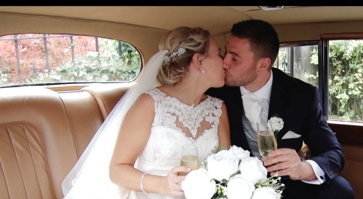 This still from their wedding trailer captures a beautiful moment between newlyweds Lucy & Ryan