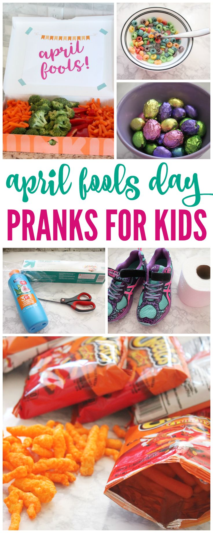 Who doesn't love to pull a few April Fools Day Pranks on their kids on April 1st? Some of them an be pretty hard, but I found some super easy and fun April Fools Day Jokes for kids!