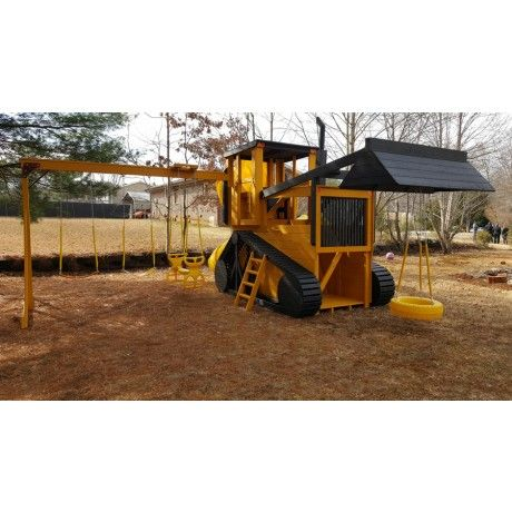 Bull dozer play ground. His mind would be blown.