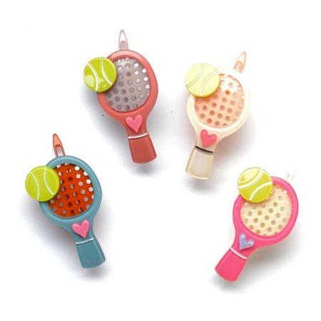 hello shiso - acrylic tennis racquet clip