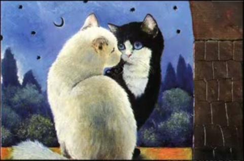 dos-gatos-enamorados-de-renata-koeblinger.jpg (481×317)