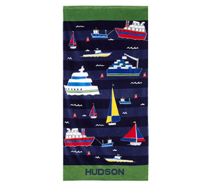 Classic Icon Boat Mini Towel - Potter Barn Kids