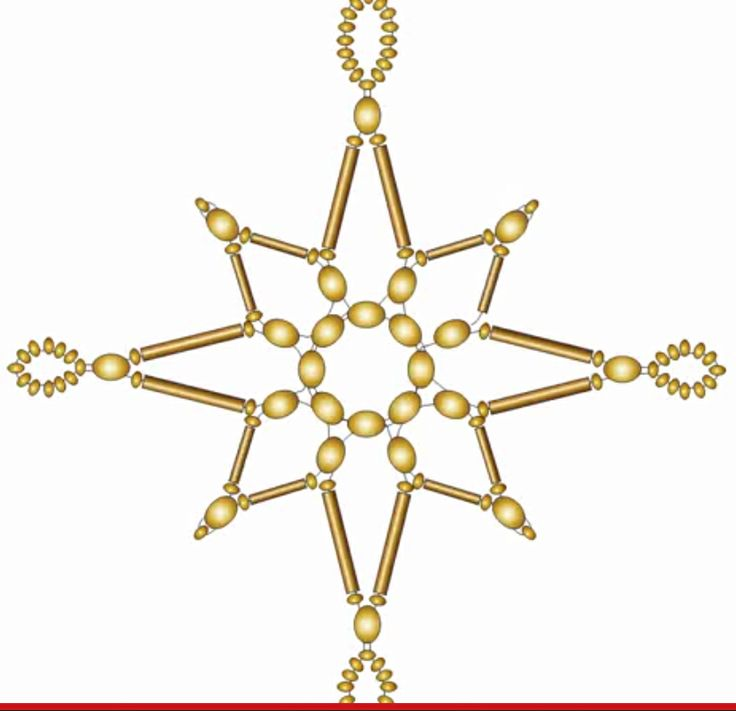 FREE Animated Snowflake Tutorial by Katherina Kostinsky featured in Bead-Patterns.com Newsletter!