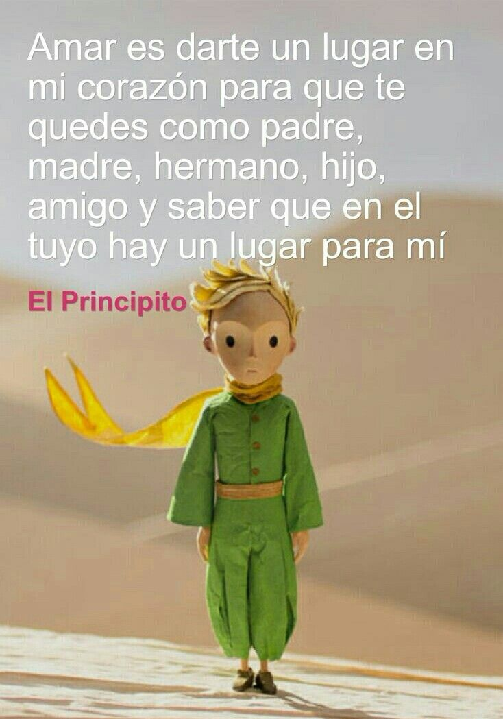 Las frases más bellas del libro clásico El Principito. #Frases #ElPrincipito #Amor #FrasesCortas #FrasesDeLaVida