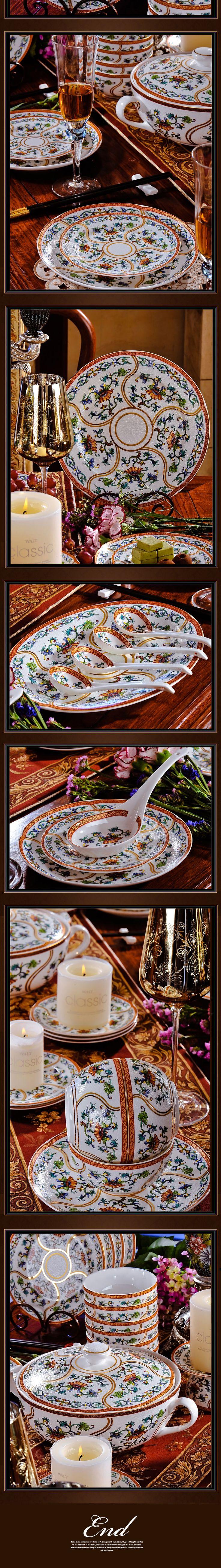 Красный отель Xin 56 руководитель высокого ранга Цзиндэчжэнь эмаль порошок Королевский стиль набор столовых приборов керамическая чаша пластина Европейской посуды-определиться. com дней кошка