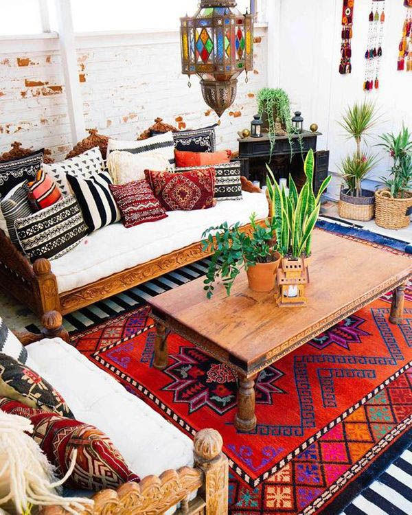 Motivating Bohemian Decorating Ideas For Living Room Indian