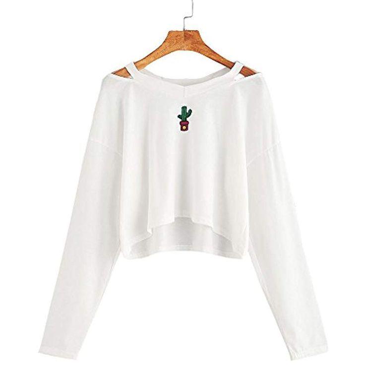 crop pullover damen weiß