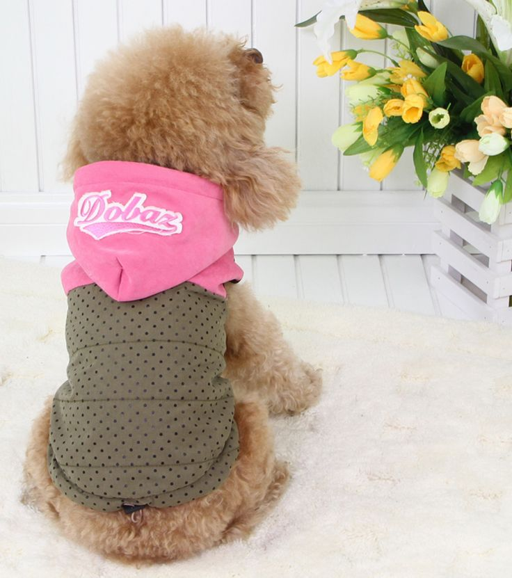 Dog Hoodie Jacket! Army Green colour with black spotty pattern. Sleeveless design for easy put on, with fleece inside layer keep it him away from the wind and cold. http://edenpetz.co.uk/dogs/dogclothing/doghoodiejacketlarge