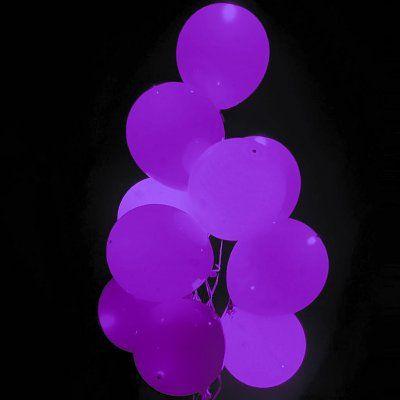 Paarse Led Ballonnen met schakelaar - 4 stuks
