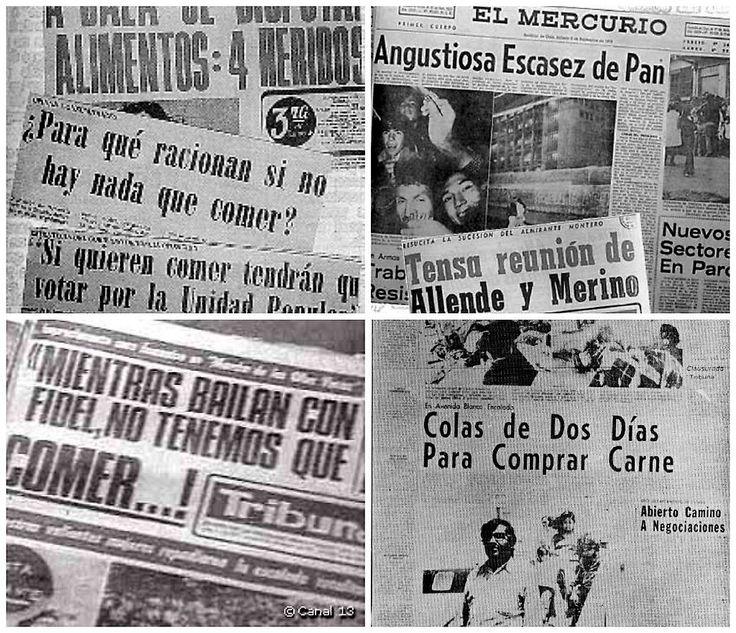 Críticas al gobierno socialista (1970-1973): - Escasez de productos básicos. - Especulación de alimentos. #oposición #Chile #socialismo