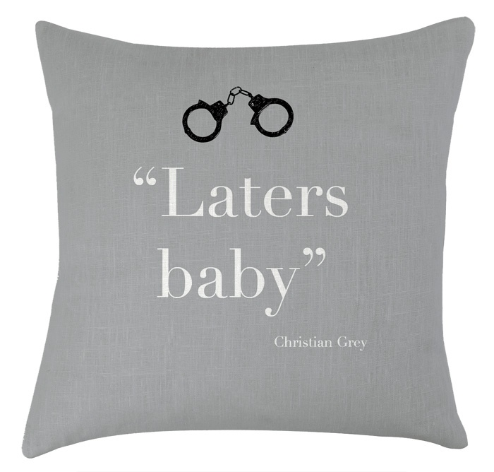 laters baby printed cushion    http://www.artylicious.co.uk/cushions/laters_cushion.htm