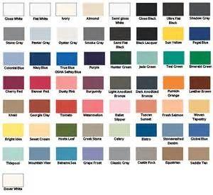 Spray Paint For Plastic Colour Chart