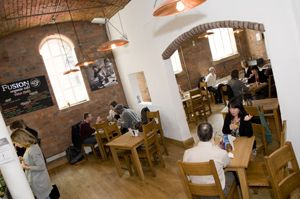 Fusion Café at Freeman College - Sheffield (category: organic eating out)