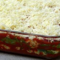 Homemade Lasagna In Minutes Recipe= easy with trader joes ingredients and No Boil Lasagna Noodles.