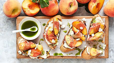 ... this weekend add this peach amp prosciutto bruschetta to the menu