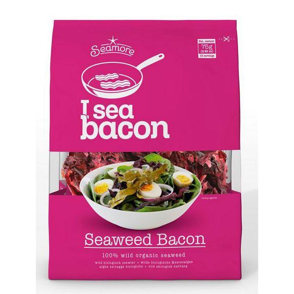 I Sea Bacon er en 100 % vild økologisk tang, der forvandles til en sprød 'bacon' når den bliver stegt på panden.