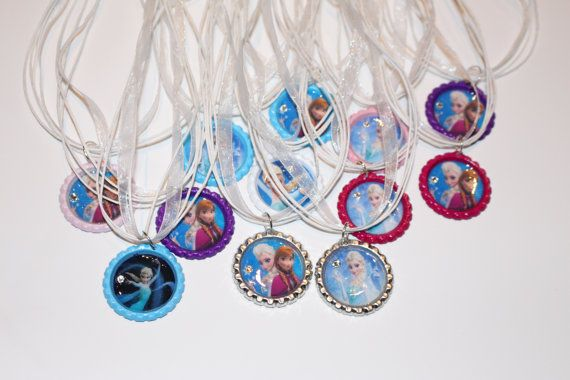 Frozen party favors.  listing at https://www.etsy.com/listing/206108089/frozen-elsa-anna-party-favors-with
