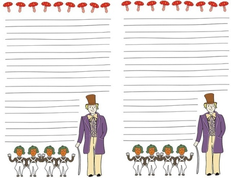 best wonka unit images chocolate factory  charlie and the chocolate factory stationery and sticker set