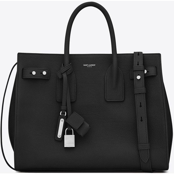 Saint Laurent Small Sac De Jour Souple Bag ($2,565) ❤ liked on Polyvore featuring bags, handbags, shoulder bags, hand bags, handbag purse, yves saint laurent handbags, embossed purse and embossed handbags