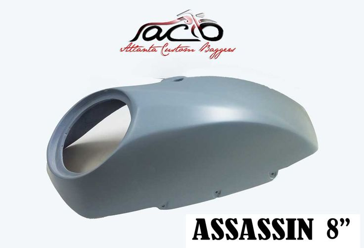 """THE ASSASSINLID SET IS A RAISED 3D SCULPTED LID FOR YOUR VICTORY TOURING BAG THIS LID WILL FIT STOCK AND AFTERMARKET BAG SETS. SHIPS PRE DRILLED IN FINISH PRIMER MADE FROM HAND LAID FIBERGLASS COMPOSITES. WILL RECESS MOUNT MOST8"""" SPEAKERS ON THE MARKET. FORWARD FACING SPEAKERS DIRECT SOUND AT THE RIDER. EASY TO PAINT AND…"""