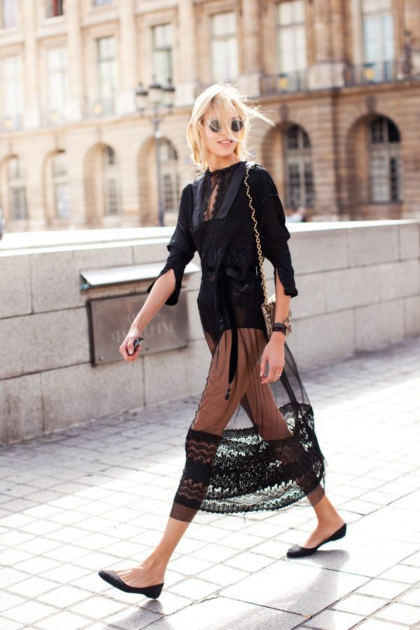 Anja Rubik - Stockholm Street Style or summer cover up