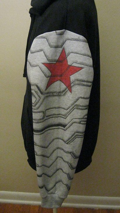 Captain America Winter Soldier Hoodie Size Adult by TheWolfGirl, $58.00