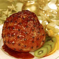 Mustard and honey glazed gammon