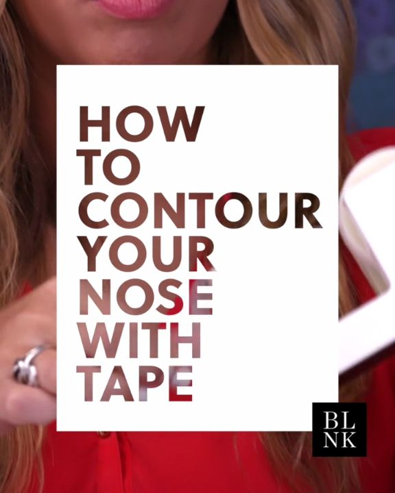 HOW TO CONTOUR YOUR NOSE WITH TAPE #beautytutorial #makeuptutorial