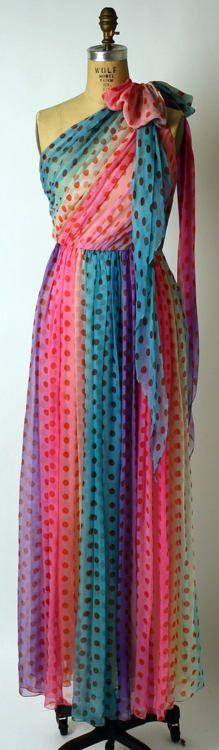 Dress  Bill Blass, 1974  The Metropolitan Museum of Art1970, Evening Dresses, Polka Dots, Bridesmaid Dresses, Maxis Dresses, Bill Blass, The Dresses, Blass Dresses, Metropolitan Museums
