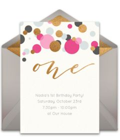 403 best 1st birthday ideas images on pinterest birthdays gotta love this free 1st birthday party invitation with a fun classic design easily stopboris