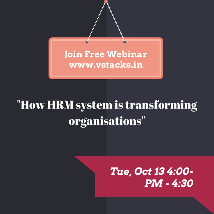 Join this free #webinar on how organisations are being transformed through the use of #HR Management #System. Join Here  http://bit.ly/1WVYAmN