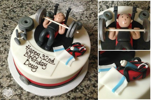 Weight lifting birthday cake for a personal trainer.