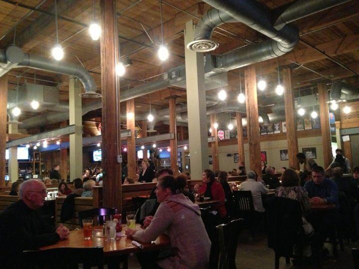 Tyler's: in American Tobacco, lots of vegetarian food, nice outdoor patio, renovated warehouse