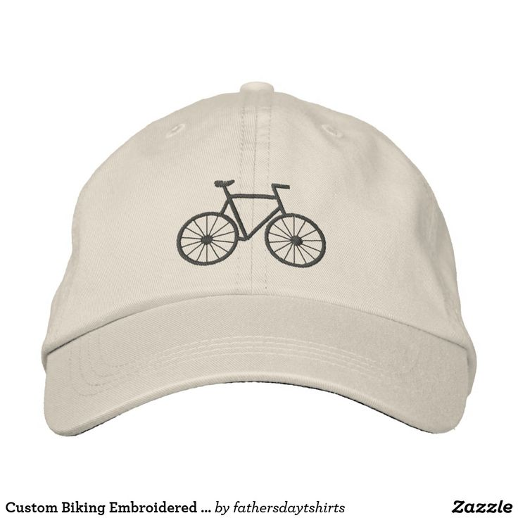 Custom Biking Embroidered Hat. Regalos Padres, fathers gifts, #DiaDelPadre #FathersDay