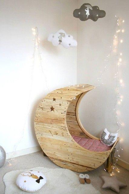 パレット家具..ムン·ベビー子供のために特別に設計されたスイングベッド..