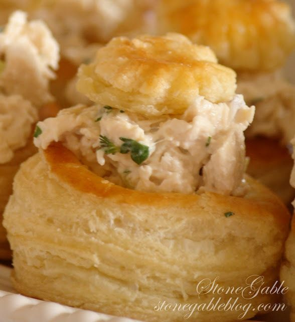 StoneGable: HERBED CHICKEN SALAD for vol-au-vent/puff pastry cups