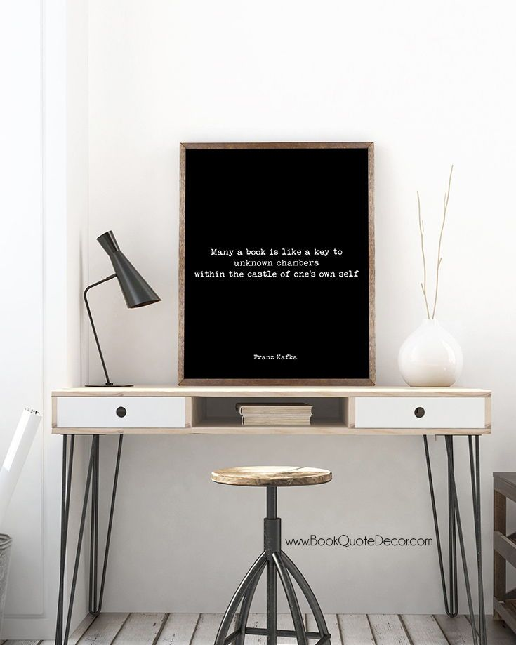 FRANZ KAFKA ART PRINT PHOTO POSTER GIFT QUOTE THE CASTLE